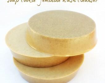 Feminine wash soap cookie hygiene odor apple cider vinegar yogurt organic pure clean no chemicals vegan all natural
