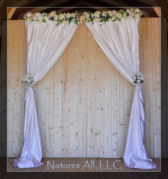 Indoor Aspen Wedding Arch With Satin Fabric Backdrop/Aspen Arbor/Complete Kit For Indoor Weddings/Rustic Wedding Backdrop/Shipping Included
