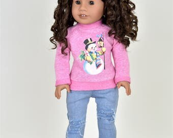 Holiday sweater 18 inch doll clothes