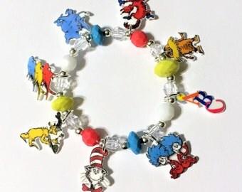 Dr Seuss Character Charm Bracelet, Dr Seuss Jewelry