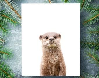 Baby otter print, PRINTABLE art, Woodland animals wall art, Baby animals nursery, Forest animals, Nursery art, Animal print, Crown Prints