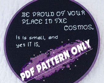 Welcome to Night Vale Cross Stitch Pattern, WTNV Cross Stitch Pattern, Easy Cross-Stitch Chart, PDF Format, Instant Download