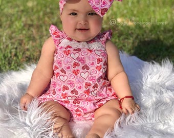 Valentine's Glitter Wrap, Love Headwraps, Hearts Baby Headwrap, Red Headwrap, fabric head wrap, Baby Girl Headwrap, Newborn Headwrap