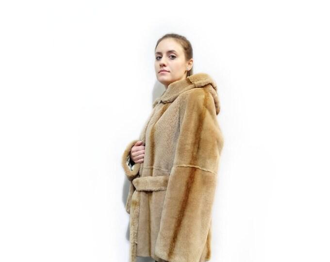 Sheared Beaver Jacket,Big Size Jacket F132