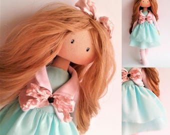 Baby dolls. Gift idea. Christmas toys. Handmade doll. Gift for her. Textile doll. Art doll. Tilda  doll. Gift baby. Collection doll..