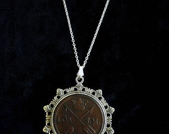 1739 Sweden King Frederick I Viking Coin Necklace
