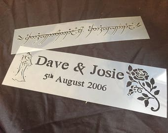 Mylar Cake Stencils for Cakes personalised