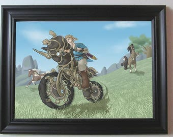 Legend of Zelda: Breath of the Wild Link Art Print