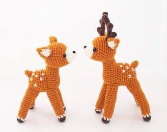 Crochet Doll Amigurumi Pattern - Deer - ZoO series - toy pattern, home decor