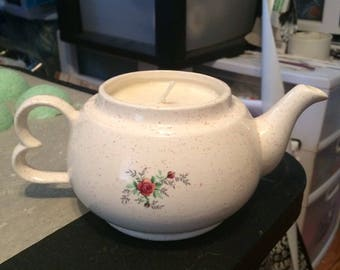 White Tea Scented Teapot Soy Candle