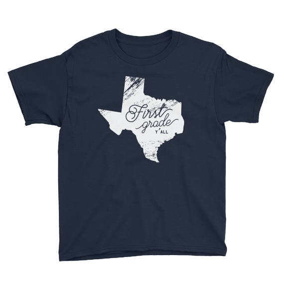 K-6 Texas Grade Level Y'all | Youth Back To School Tshirt | Kids School Shirt | PreK First Grade