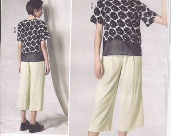 FREE US SHIP Vogue 1492 dkny Donna Karan Designer Top Pants Funky Size 6 8 10 12 14 16 18 20 22 Bust 30.5 31.5 32.5 34 36 38 40 42 44 New ff