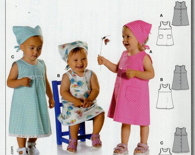Burda Easy 9750 Sewing Pattern Free Us Ship Uncut Size 6 9 12 18 mo 1 2 3 Toddler Boho Dress Head Scarf  New uncut Baby