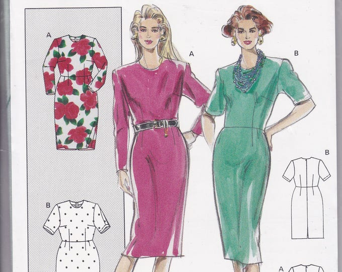FREE US SHIP Burda 4855 Retro 1990s 90's Sewing Pattern Dress Size 8 10 12 14 16 18 20 22 24 26 Bust 30 32 34 36 38 40 42 44 46 48 Uncut