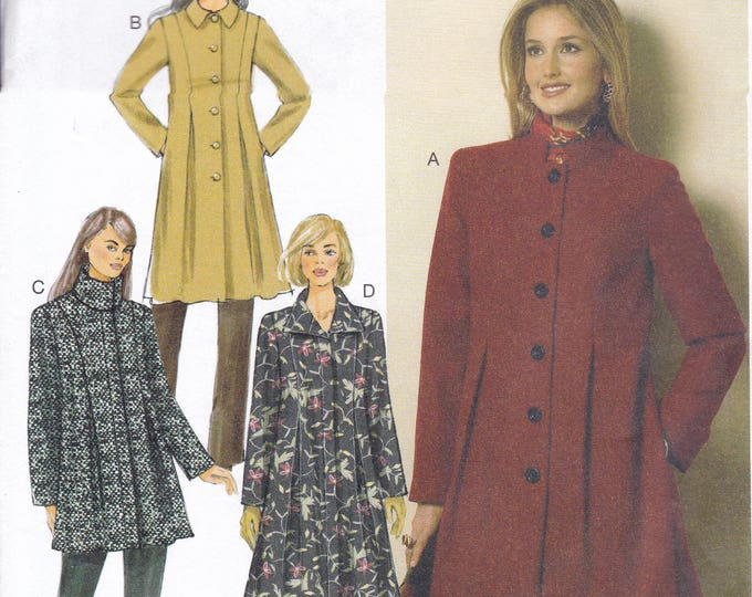 FREE US SHIP Butterick 6141 Seam Detail Flared Jacket Coat Size 6 8 10 12 14 Bust 30.5 31.5 32.5 34 36 Factory Folded Out of Print