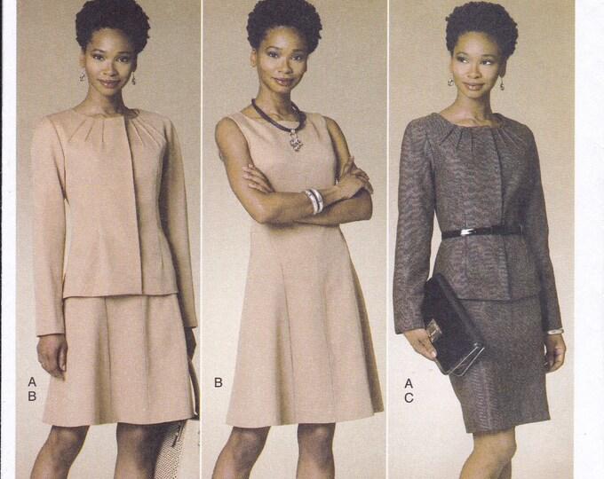 FREE US SHIP Butterick 6257 Lifestyle Wardrobe Jacket Skirt Dress Uncut Sewing Pattern 14/22 Size 14 16 18 20 22 Bust 36 38 40 42 44 Plus