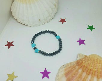 Crystal and star bracelet