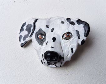 Unique and one of a kind Handmade Dog brooch, ask me about commissions