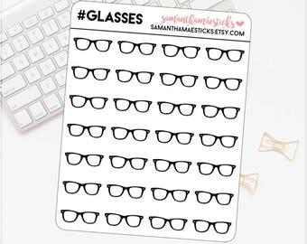 Glasses Nerd ECLP for use with Erin Condren Lifeplanner™ Happy Planner Stickers