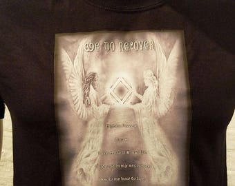 NA -3rd Step Angel - Full Shaded - white or black T-shirt - S-3X  - 100% cotton.  heat press t's