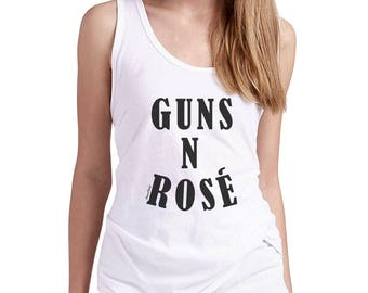 Guns N Rose Tank Top, Rose Tank Top, Rose All Day Tank, Wine Lover Yoga Tank Top, Funny Drinking Tank, Funny Yoga Tank Top, Brunch Tank Top
