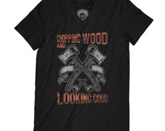 Fathers day shirt lumberjack shirt chopping wood shirt wild t-shirt adventure shirt forest shirt nature shirt axes tshirt  AP47