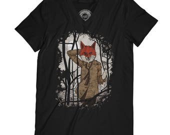 Fox t-shirt hipster tshirt funny shirt husband gift fathers day shirt forest t-shirt sexy fox t-shirt animal t-shirt  AP66