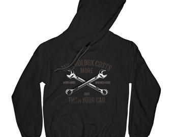 DIY hoodie Toolbox hoodie mechanic hoodie car lover hoodie handy man hoodie motorcycle hoodie tools hoodie wrench hoodie  AP5