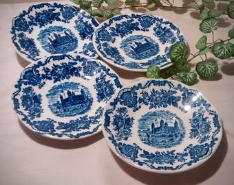 Royal Homes of Britain Saucers by Enoch Wedgwood, English China