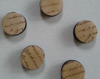 Old Script Magnet Set