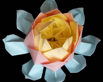 Origami LOTUS Paper Flower Art Gifts Sculpture Water Lily