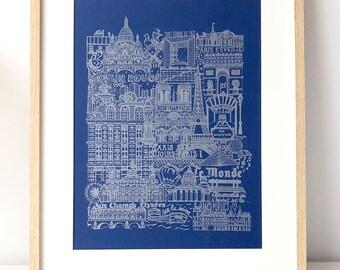 PARIS (blue & silver)