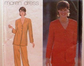 Simplicity Sewing Pattern for Women Jacket Skirt and Pants Size 8 10 12 Complete Cut