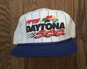 Vintage 90s 1995 Daytona 500 Nascar Snapback Hat Baseball Cap