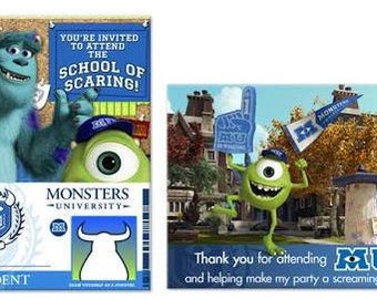 Monsters University Inc. Invitations & Thank You Notes (8ct each)