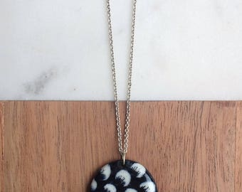 Crescent Necklace - Porcelain and sterling silver