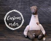 Custom order! Teddy Bear Mikhail Potapovich