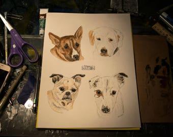 Custom Dog Portrait, Custom Dog Painting, Custom Pet Portrait, Watercolor Pet Painting, Original Pet Painting, Memorial Pet Art, Pet Gift