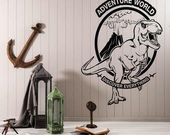 Wall Vinyl Decal Art Mural Adventure World Discover Everything (2513dz)