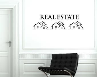 Real Estate Vinyl Wall Decal Property Houses Realtor Broker Stickers Mural  (#2630di)