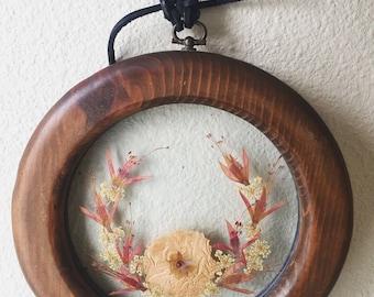 vintage dried flower pendant wall decor