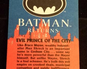 "Vintage 1992 Topps Batman Returns Trading Card, ""Evil Prince of the City"" #5"