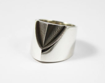 ELEVATION , Modernist Silver Ring