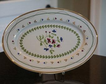 I Godinger and Co Platter/ Floral Platter/ Gold Detail
