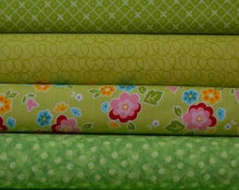 Lime green fat quarter bundle