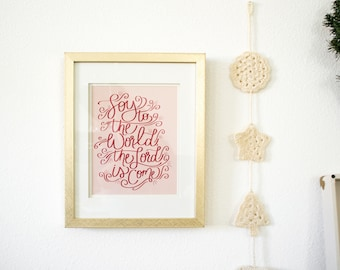 Joy To The World Hand Lettered Print
