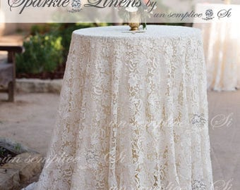 Lace Tablecloth, Giupure Lace, French Venice Lace , Venetian Lace
