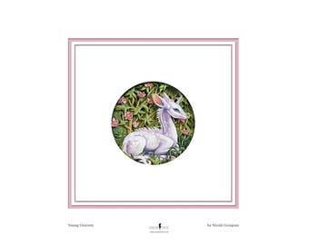 Mini Print 'Young Unicorn' Art Print