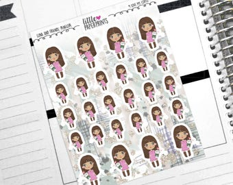 "PENELOPE - ""I Love My Coffee!"" Decorative Planner Stickers from the Little Luna and Friends Collection Series"