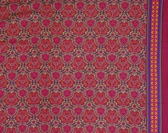 """Crafting Decorative Fabric, Floral Print, Beige Fabric, Apparel Fabric, 45"""" Inch Cotton Fabric By The Yard ZBC8346D"""